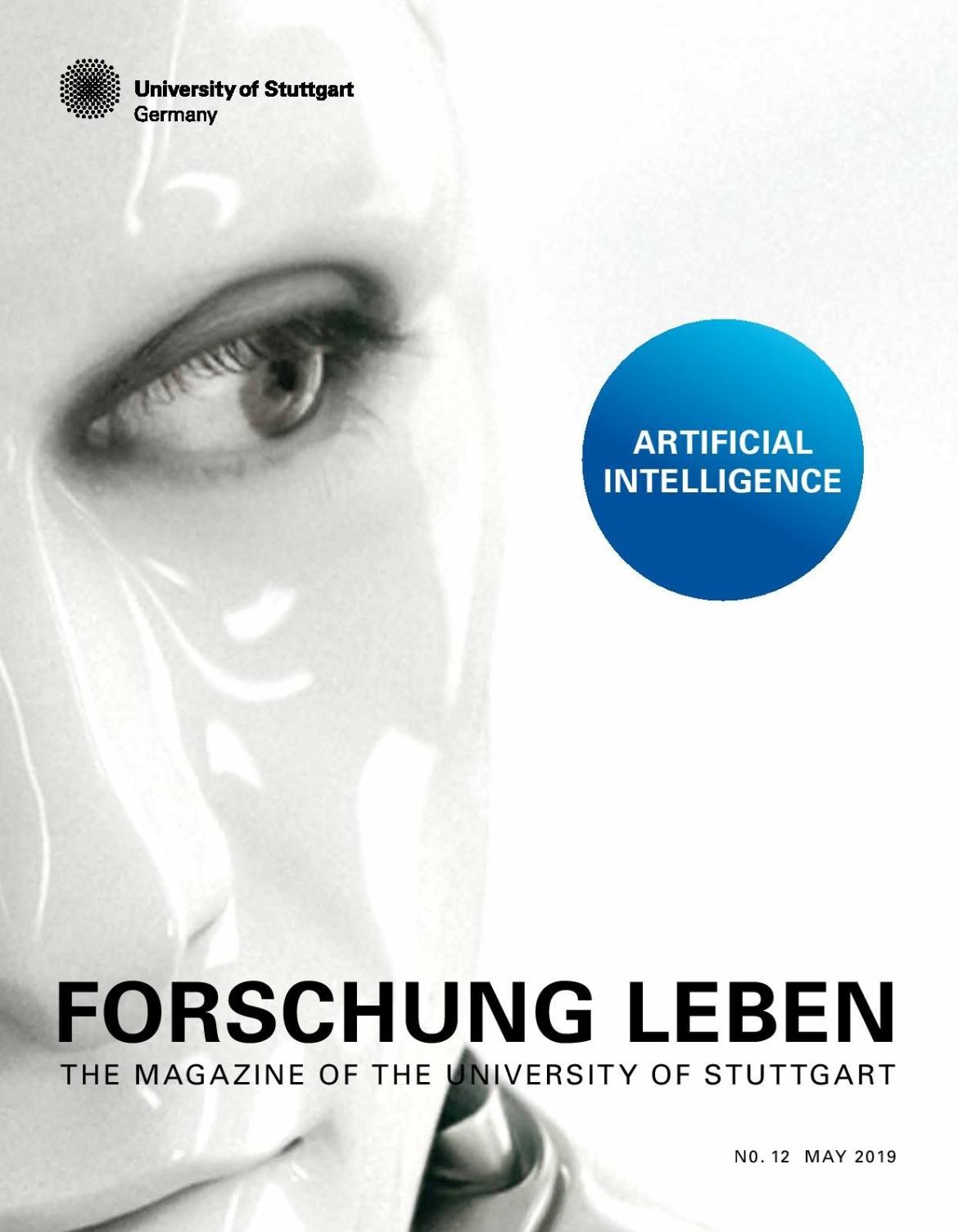 Cover of the Magazine Forschung Leben shows a robot.