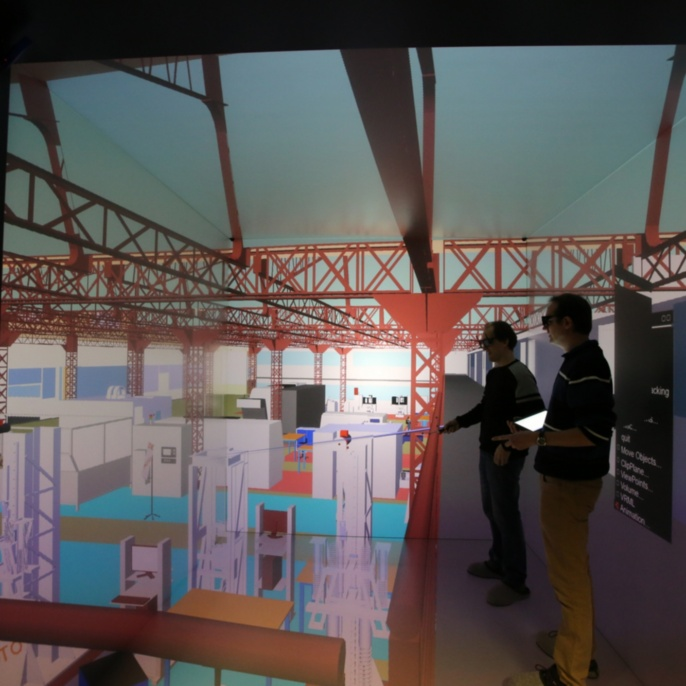 Building Information Modelling in virtual reality.