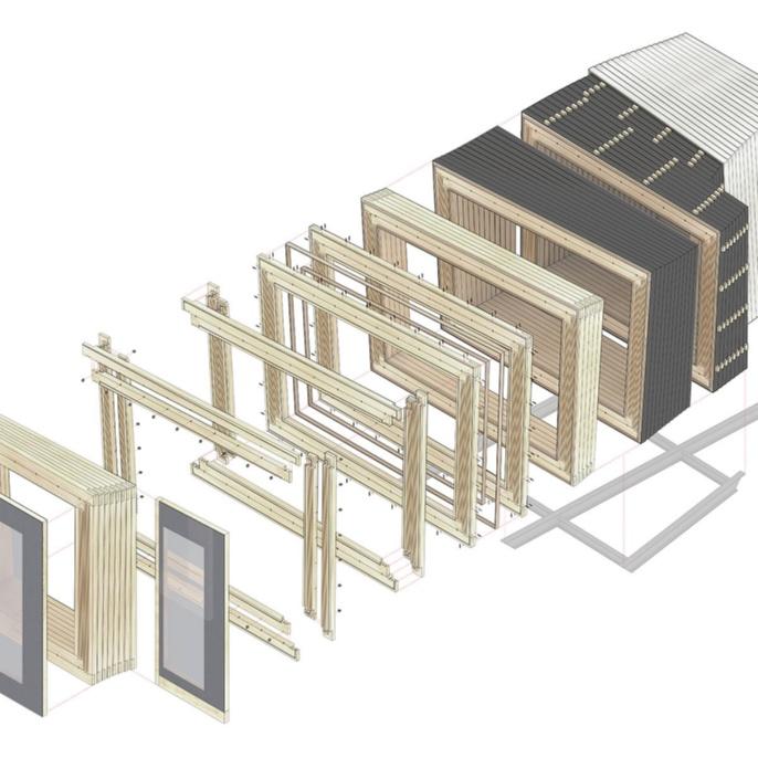 Timber Prototype House Einzelteile