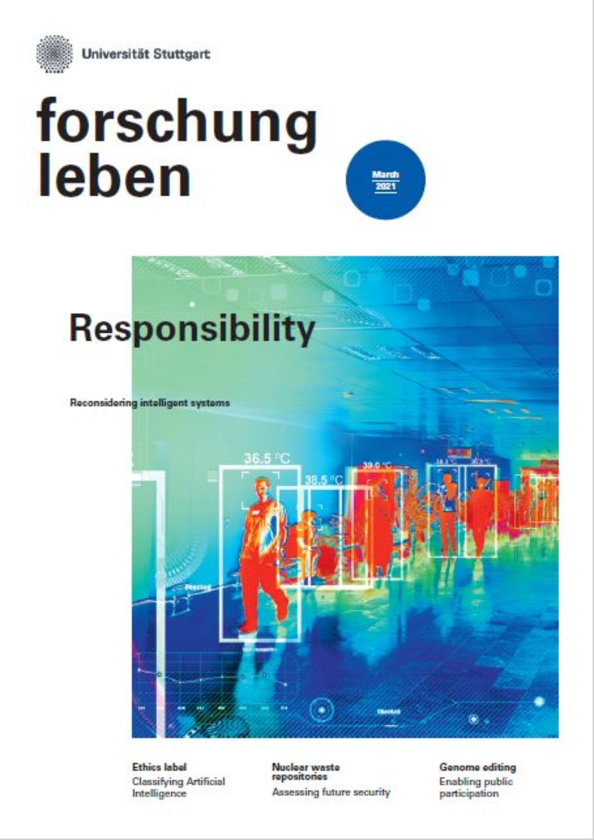 Cover of the current issue on the topic of responsibility