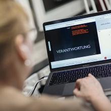 Ein virtueller Vortrag mit dem Titel Verantwortung