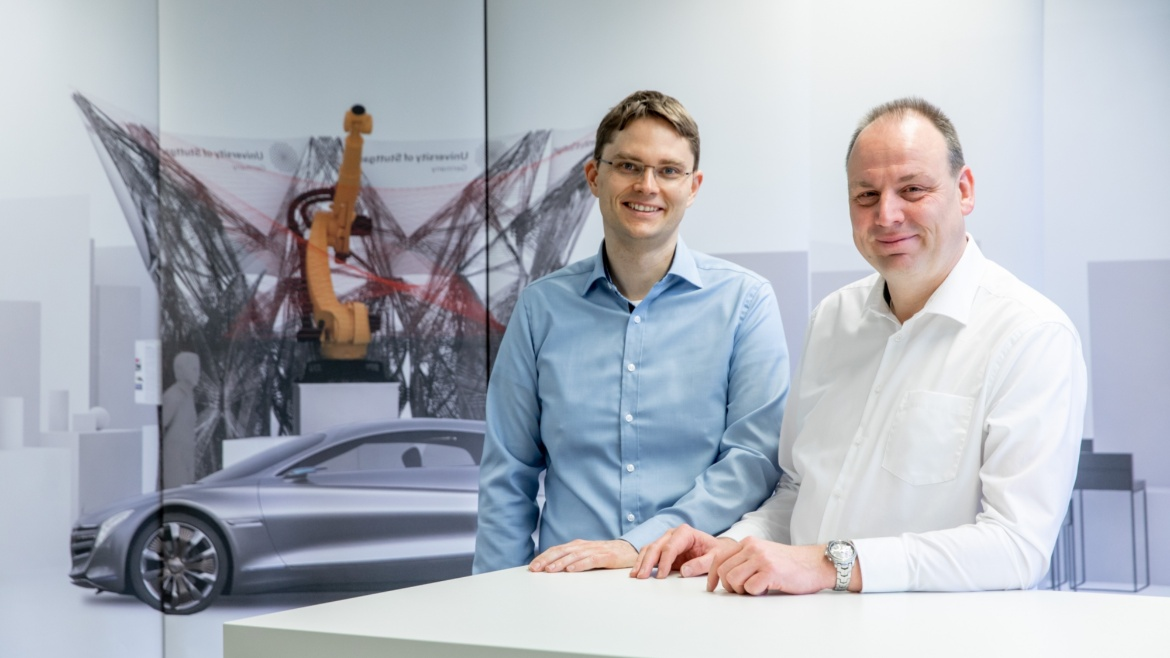 Prof. Jens Anders is Head of the Institute of Smart Sensors and Prof. Michael Weyrich of the Institute of Industrial Automation and Software Engineering (c) University of Stuttgart/U. Regenscheit