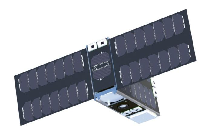 Rendering des Minisatelliten EIVE-CubeSat