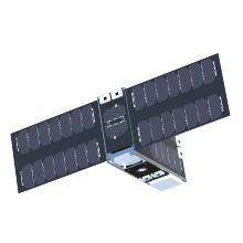Rendering eines Minisatelliten