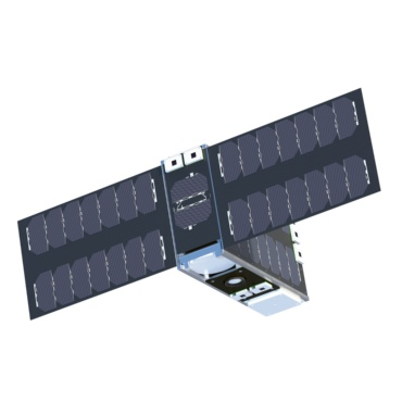 Rendering of a mini-satellite. The EIVE satellite will be about the size of a shoebox.