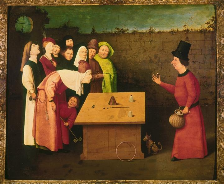 Hieronymus Bosch: Der Zauberer, um 1502.  (c) Saint-Germain-en-Laye, Musée Municipal