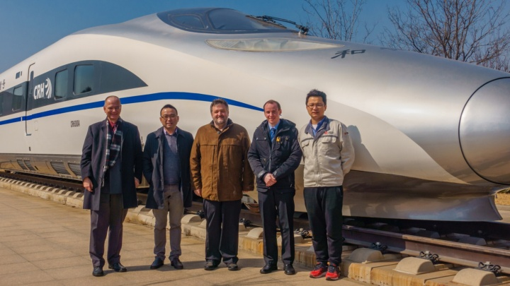 Project team in March 2018 at a project meeting in Qingdao (c) IEV