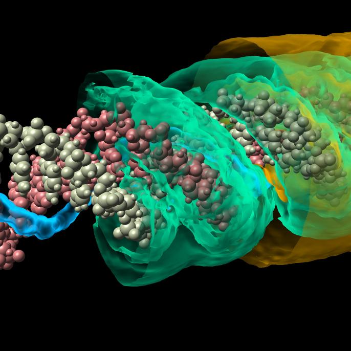 Simulation eines Moleküls