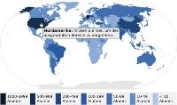 Die digitale Weltkarte des Alumni-Portals zeigt die Vernetzung der Alumni der Uni Stuttgart rund um den Globus.    (Foto: Alumni)