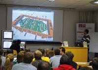 Viel Spaß hatten die Studierenden bei der ersten virtuellen Tischkicker-Meisterschaft am ISW.    (Foto: Institut)