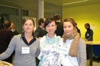 Modern seit 20 Jahren: Rund 40 Prozent Frauen arbeiten beim IER.  Hier die Mitarbeiterinnen Birgit Götz, Ninghong Sun und Rosa Lo (v.l.n.r.) während des Symposiums. (Foto: Institut)
