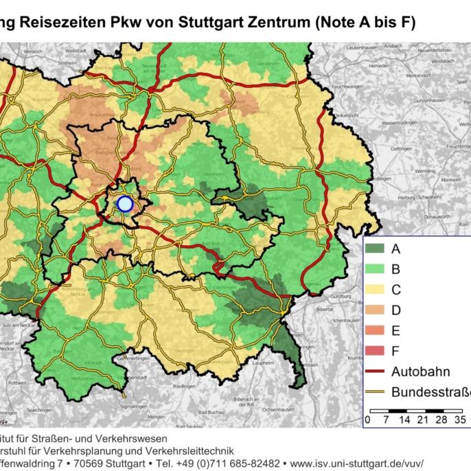 Landkarte: Verkehrszustand auf Deutschlands Autobahnen, mit Legende.