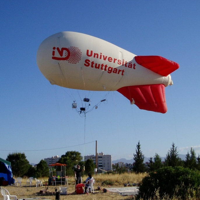 Tethered balloon of the institute for air pollution  <br />Image: Günter Baumbach<br />