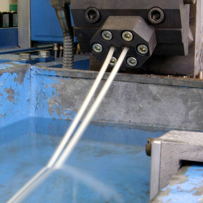 Production of a bioplastic on a compounder. <br />