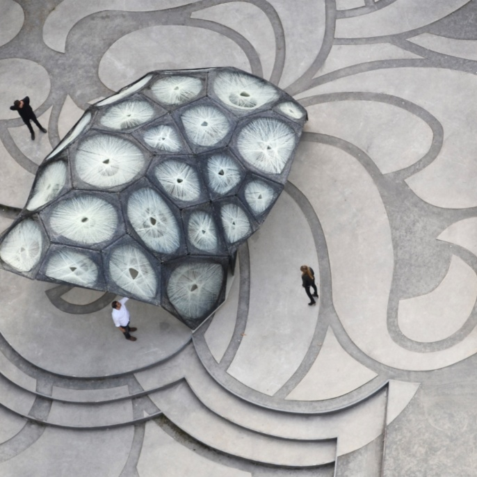 Research pavillon 2013/2014. <br />Image: Roland Halbe<br />