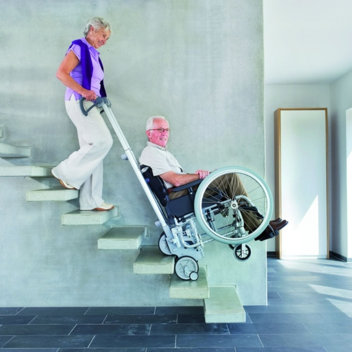 Gerontology: stair climbing device. <br />