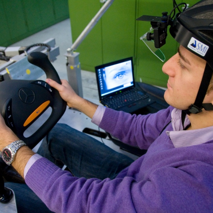 Ergonomics test station with Eye-tracking. <br />