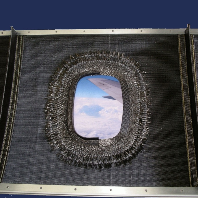 A window frame strucutre with tailored fiber placement. <br />