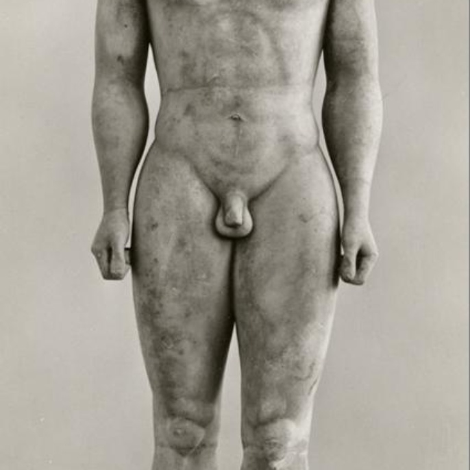Greek Kouros statue. <br />