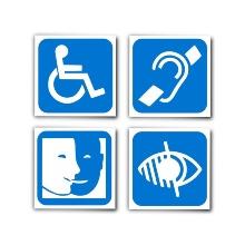 4 Symbolbilder für Behinderungen