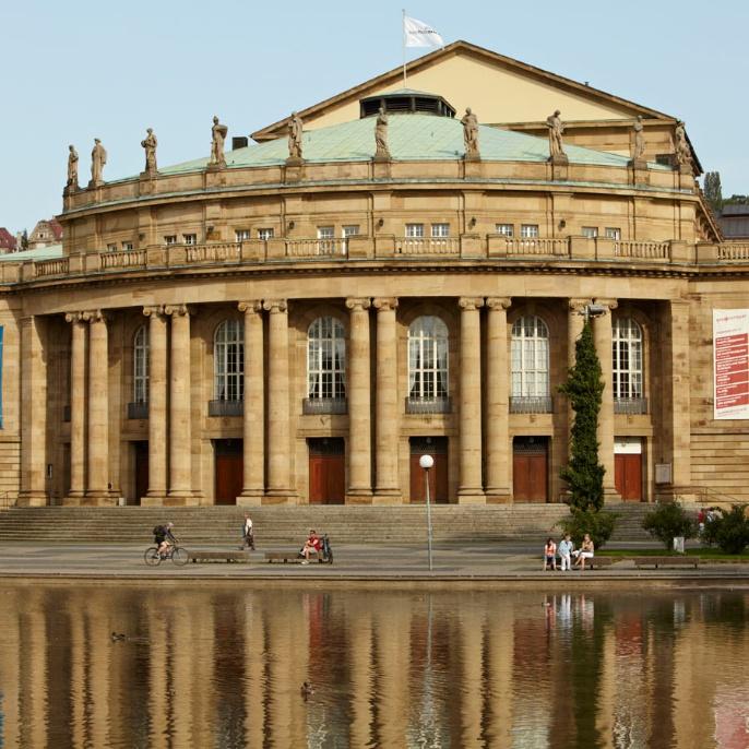 The Stuttgart opera house.