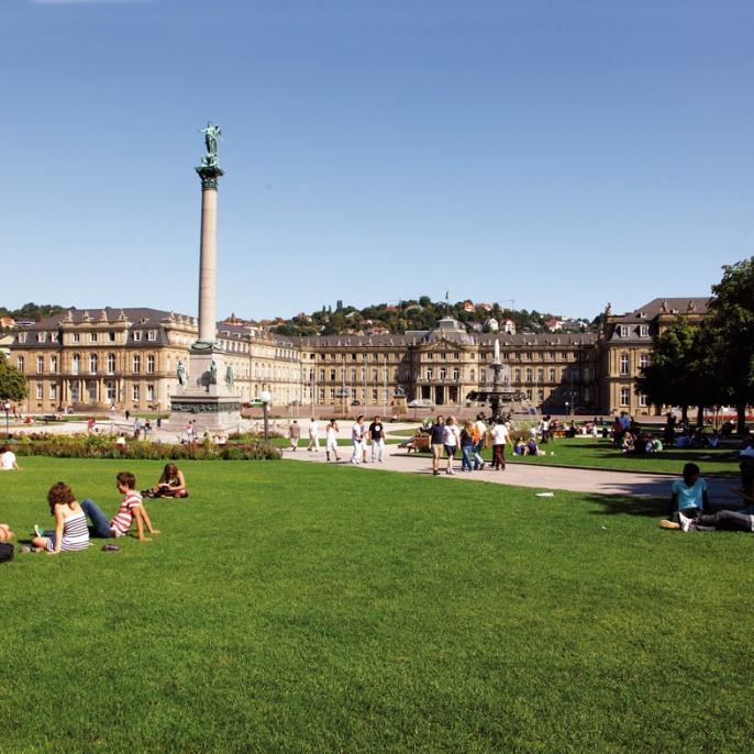 The castle square in Stuttgart