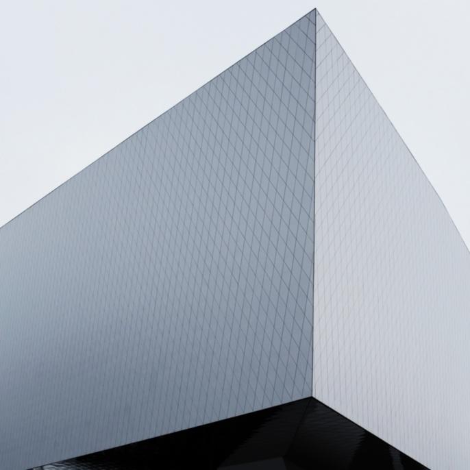 Architektonisch modernes Gebäude des Porschemuseums