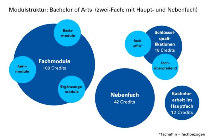 Modulstruktur des Zwei-Fach-Bachelors of Arts (c)