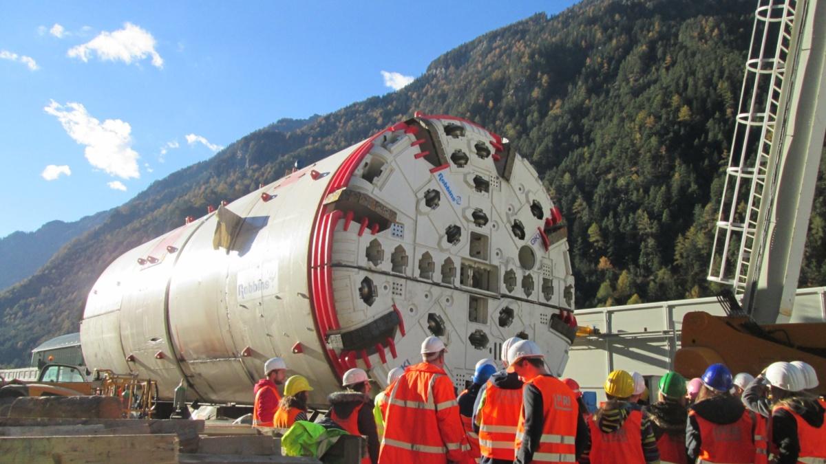 Tunnelbohrmaschine  Foto: IGS (Institut für Geotechnik)