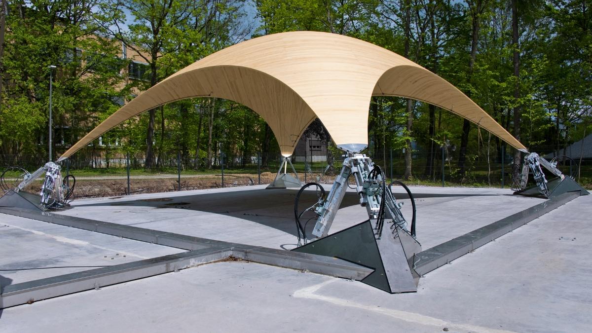 Smart-shell  Foto: ILEK (Institut für Leichtbau Entwerfen und Konstruieren