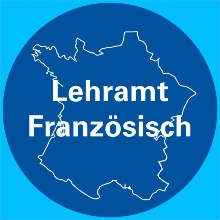 Logo Lehramt Französisch - Landkarte Frankreichs im Hintergrund. Foto: