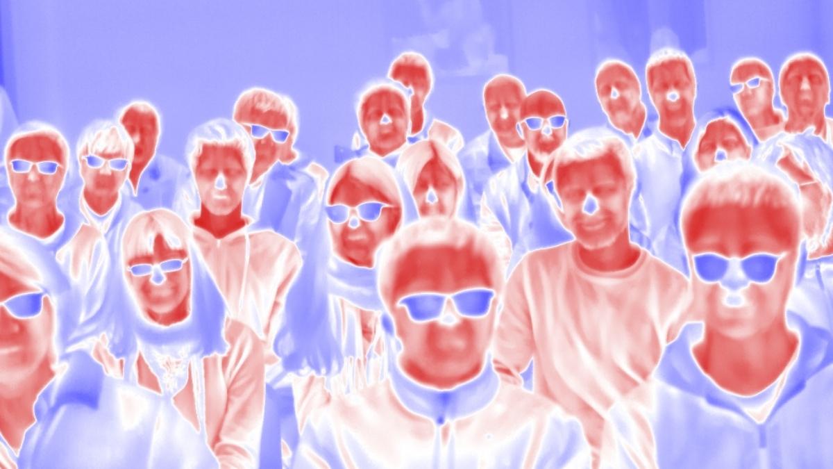 Thermalbild: Dieses Bild zeigt eine sogenannte Thermalaufnahme, also das Bild einer Kamera die Strahlung im thermalen Infrarot (sog. Wärmestrahlung) registriert.  Institut für Photogrammetrie