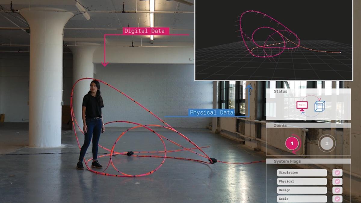 ITECH M.Sc. 2018: Self Choreographing Network – A Material-Machine Kinematic for Dynamic Space Change; Mathias Maierhofer, Valentina Soana  ICD/ITKE, University of Stuttgart