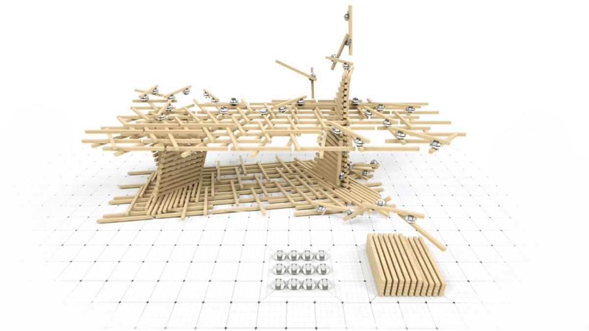 ITECH M.Sc. 2018: Distributed Robotic Assembly System for In Situ Timber Construction; Samuel Leder, Ramon Weber  ICD/ITKE, University of Stuttgart