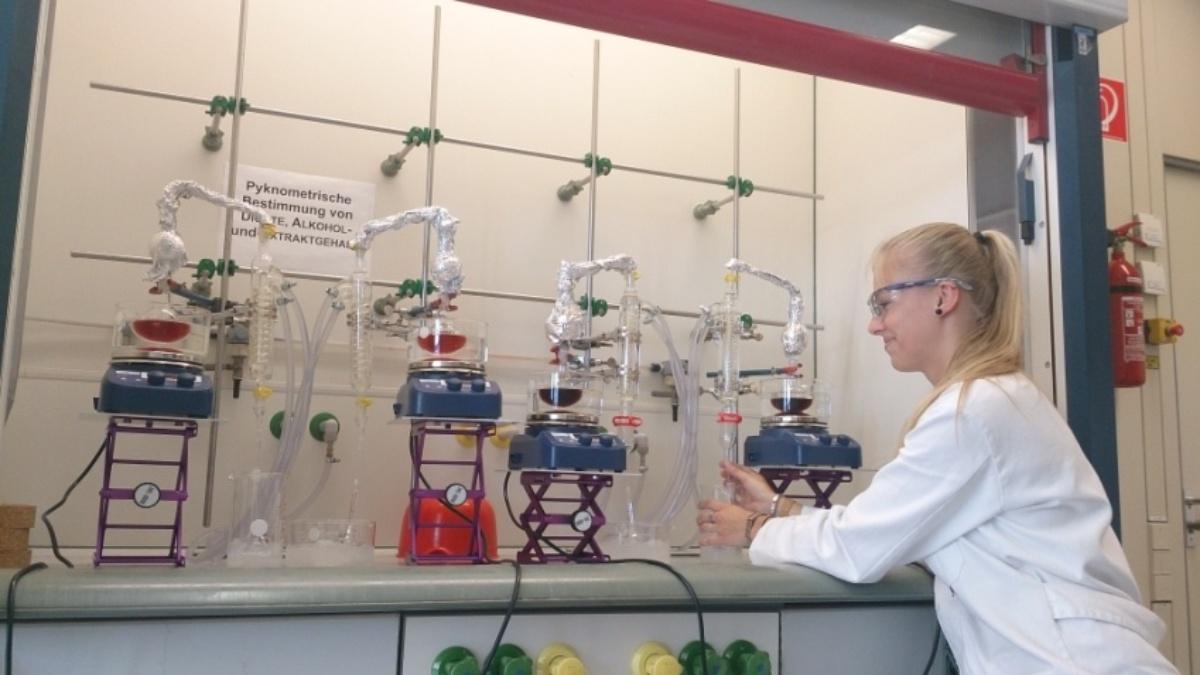 Eindrücke aus dem Praktikum Lebensmittelchemie