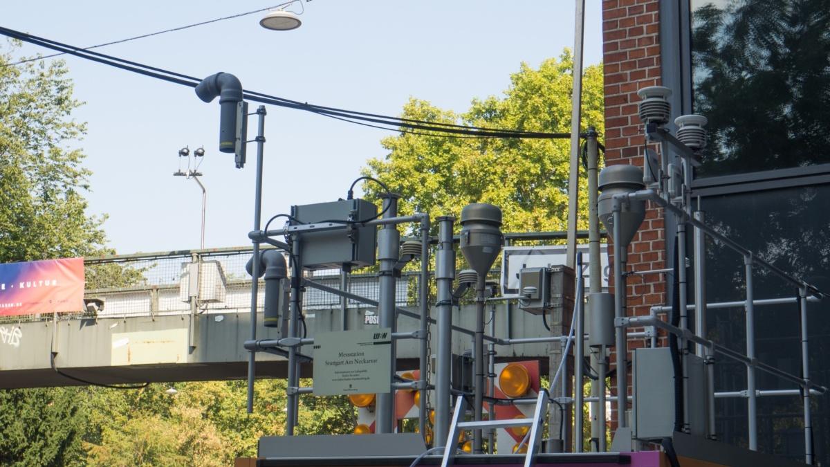 Studiengang Umweltschutztechnik: Abfall, Abluft und Abwasser Messstation Neckartor Foto: ISWA/Uni Stuttgart