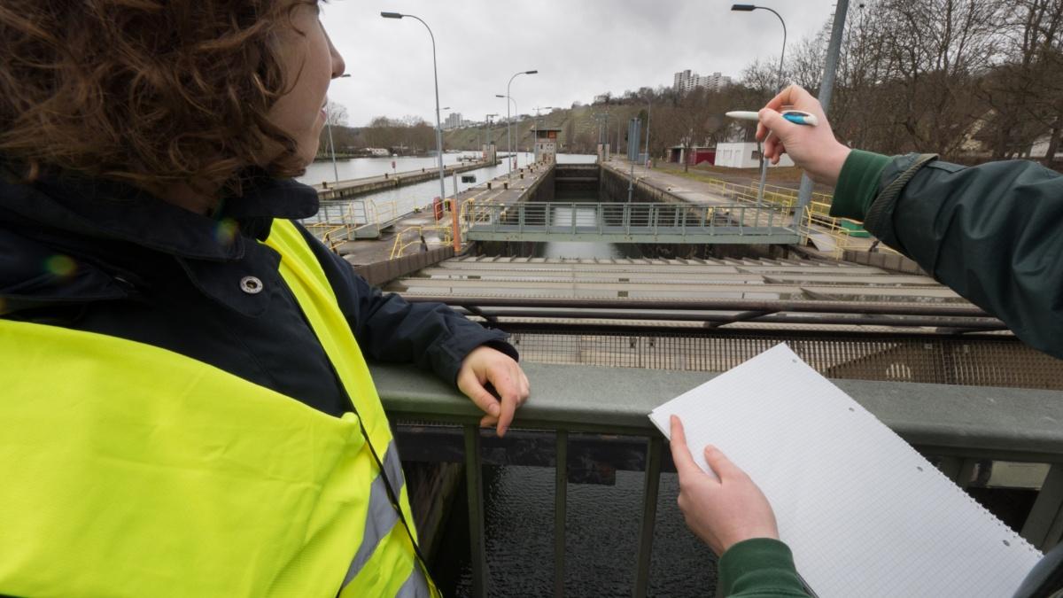 Studiengang Umweltschutztechnik: Wasser Wasserkraftwerk am Neckar in Stuttgart-Hofen Foto: ISWA/Uni Stuttgart