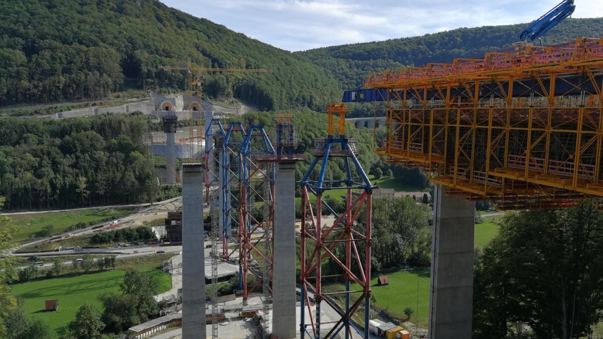 Baustelle der Filstalbrücke  Foto: IEV