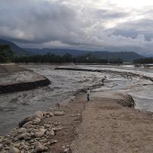 Ein übergetretener Fluss IWS