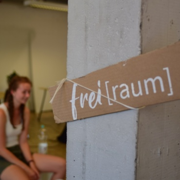 The so-called Freiraum on the Campus Vaihingen offers space for events and exchange