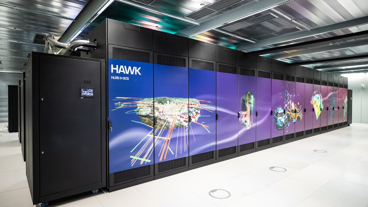 "The ""Hawk"" supercomputer at the High Performance Computing Center at the University of Stuttgart (c)"