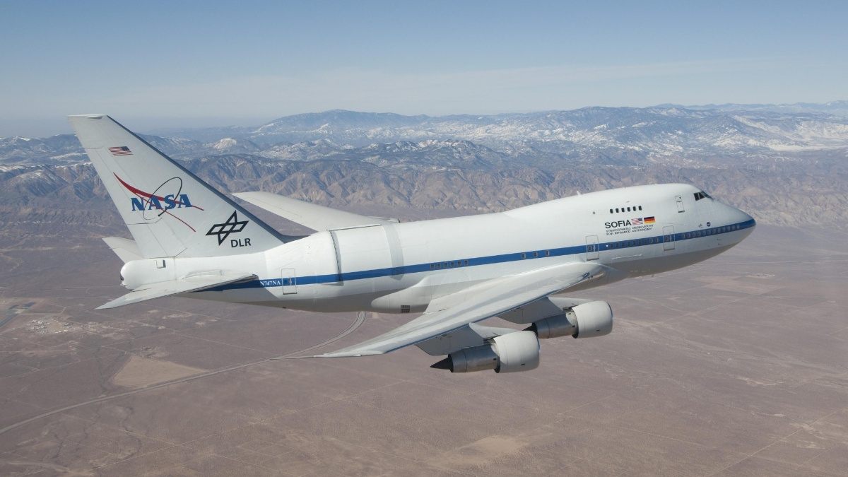 The Stratospheric Observatory for Infrared Astronomy (SOFIA) is exploring space. (c)