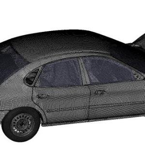 Frontalcrash eines Ford Taurus Rechenmodell