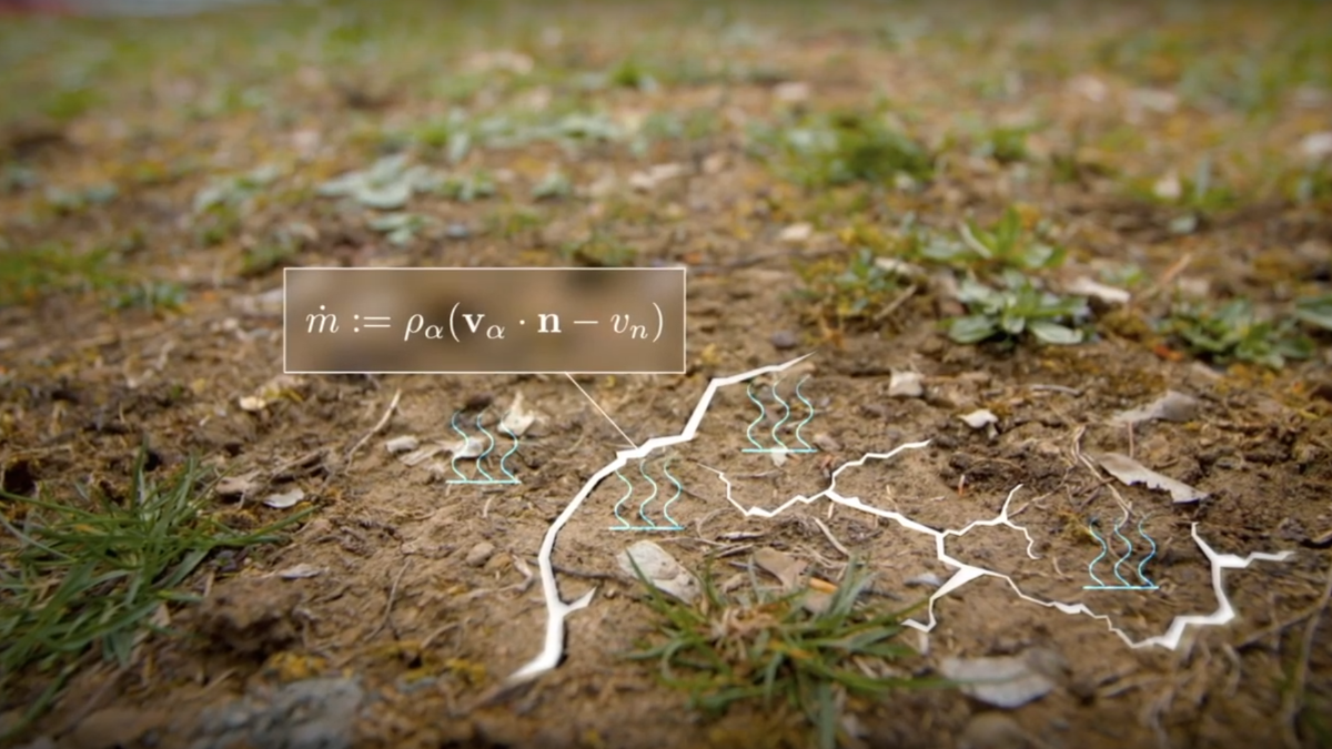 Image of earthy soil showing evaporation graphically.