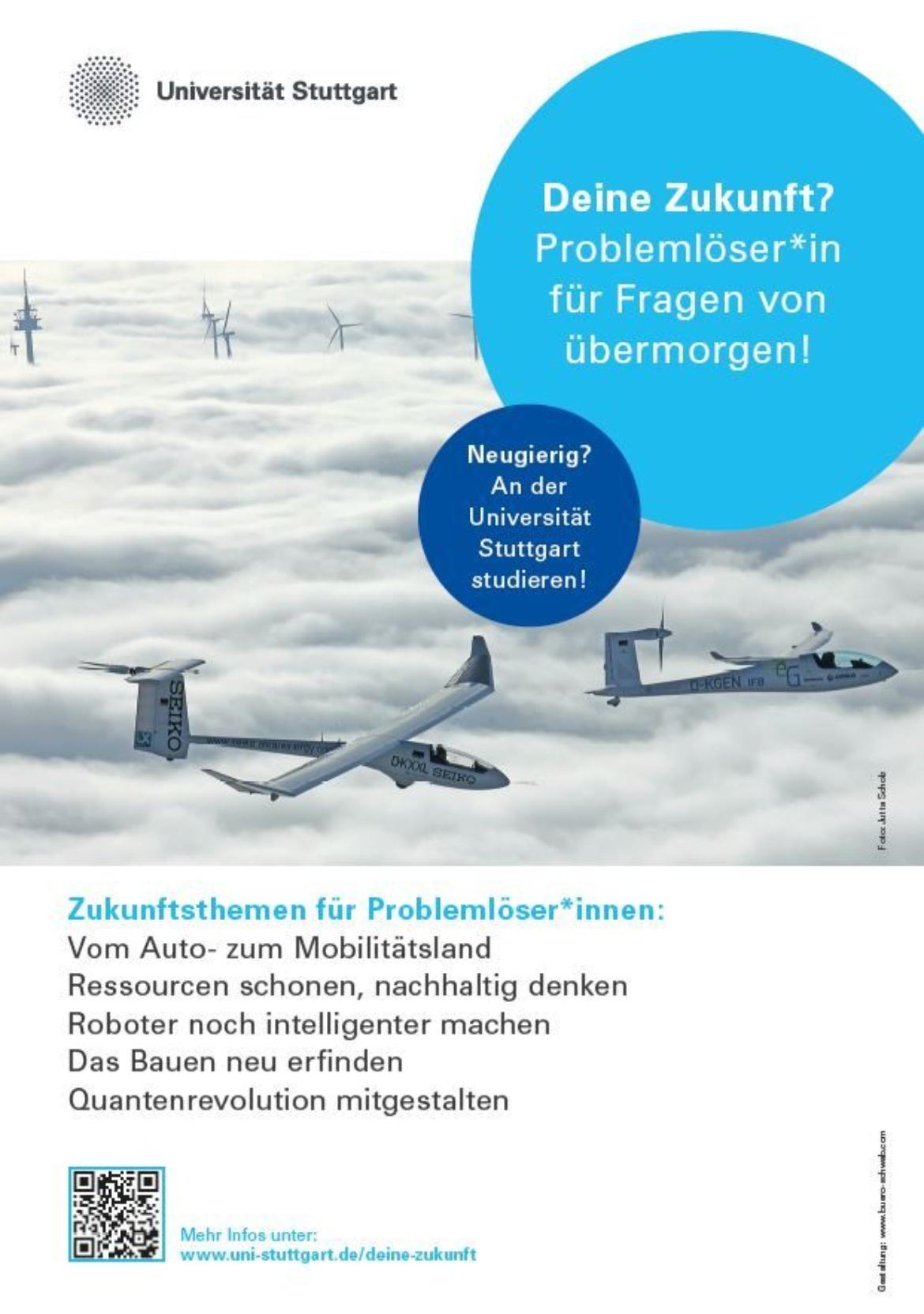 """Plakat Kampagne """"Deine Zukunft? - Problemlöser*in für die Fragen von Übermorgen!"""""""