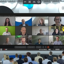 Screenshot from the online teaching awards on 30.6.2021.