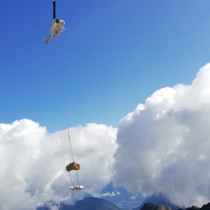 Alpenhütte aus Reet