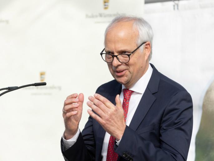 ZAQuant Eröffnung am 8.10.2021 - Prof. Wrachtrup spricht.