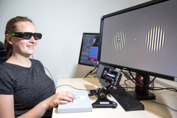 Eye-tracking measurements in a study of the blind spot.
