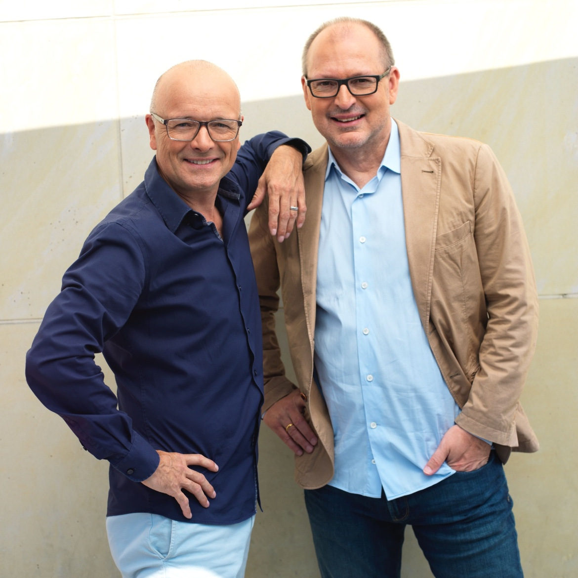 Christian Hesse together with TV presenter Karsten Schwanke